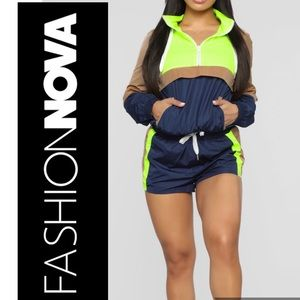 PULL OVER HOODIE SET LIME COLOR
